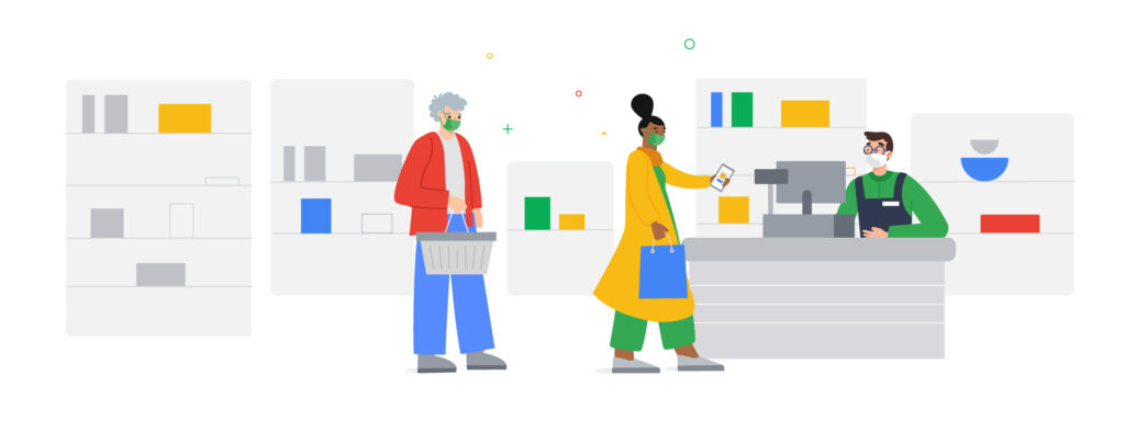 Illustration of People Shopping